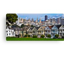 Iconic San Francisco with Painted Ladies Canvas Print