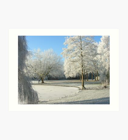 Winter scene Art Print