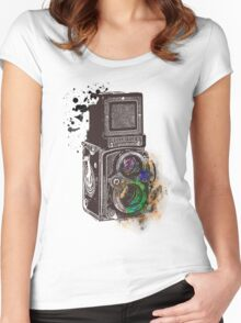 Photography Vintage Retro Rolleiflex Women's Fitted Scoop T-Shirt