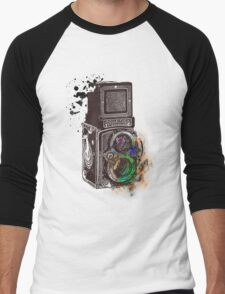 Photography Vintage Retro Rolleiflex Men's Baseball ¾ T-Shirt