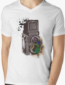 Photography Vintage Retro Rolleiflex Mens V-Neck T-Shirt
