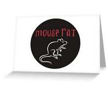 Mouse Rat Greeting Card