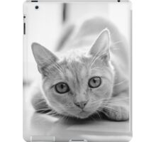 The pouncing kitty - BW iPad Case/Skin