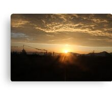 The one with the sun Canvas Print