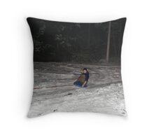 Sleding fun Throw Pillow