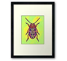 Beetle in Green Framed Print