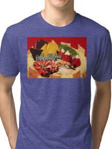 Scrumptious Christmas Cake Tri-blend T-Shirt