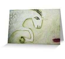 unicorn and maiden Greeting Card