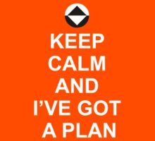 Keep Calm and I've got a plan [Dot] Kids Tee