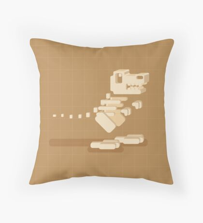 Dino Bones Throw Pillow