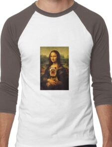 Yorkie Lisa Men's Baseball ¾ T-Shirt