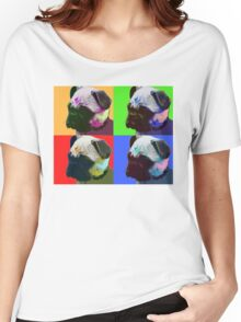 Pug Warhol Women's Relaxed Fit T-Shirt