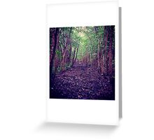 Down the Wooded Path Greeting Card