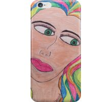 The Lady with all the Colors of Neon iPhone Case/Skin