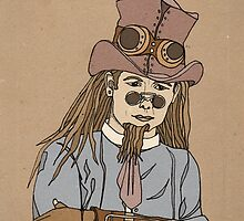 Steampunk Man with Awesome Hat by Rebekah Melville