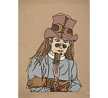 Steampunk Man with Awesome Hat Photographic Print