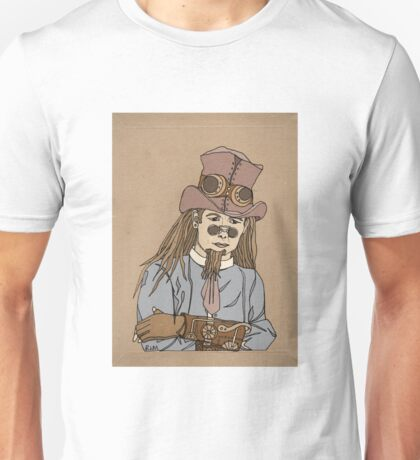 Steampunk Man with Awesome Hat Unisex T-Shirt