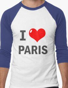 I love Paris Men's Baseball ¾ T-Shirt