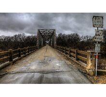 The Old Bridge of Burkett, Texas  Photographic Print