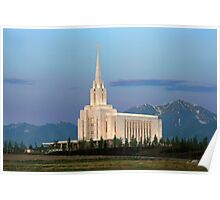 Oquirrh Mountain Temple Morning Light 20x30 Poster