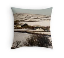 Christmas Eve Snow Scene One Throw Pillow