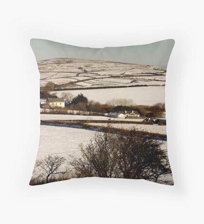 Christmas Eve Snow Scene One Throw Pillow