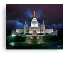 Oakland Temple Blue Sunset 20x24 Canvas Print
