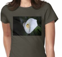 Pure White Calla Lily Womens Fitted T-Shirt