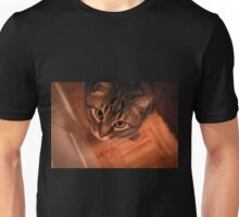 Tabby cat looking up Unisex T-Shirt