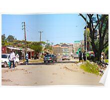 The streets of Nairobi, KENYA Poster