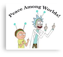 Rick and Morty-- Peace Among Worlds Canvas Print