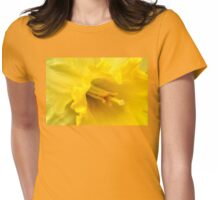 Yellow Daffodil Closeup Womens Fitted T-Shirt