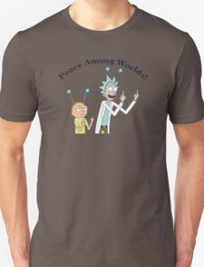 Rick and Morty-- Peace Among Worlds T-Shirt