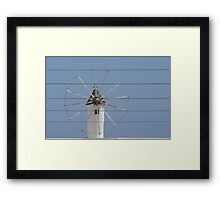 Wind and wire. Framed Print