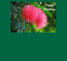 Happy Birthday greeting card and gifts (silk flower) Womens Fitted T-Shirt