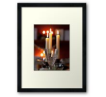 crystal and candles Framed Print