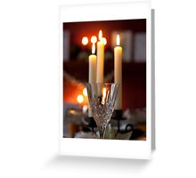 crystal and candles Greeting Card