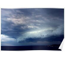 Storm Front Over Peninsula Poster