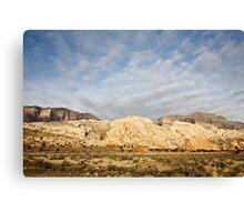 Split Mountain Goldenlight Canvas Print
