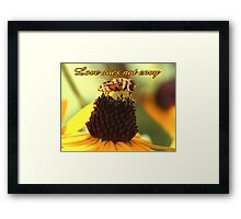 Love does not envy Framed Print