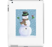 Cute snowman with cardinal iPad Case/Skin