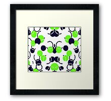 Green Ball Pattern Framed Print