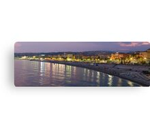 Nice at night Canvas Print