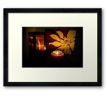 Love by candle light Framed Print