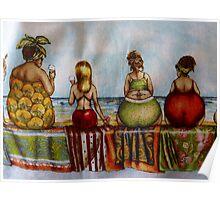 My sisters apron - Christmas Tasmania Poster