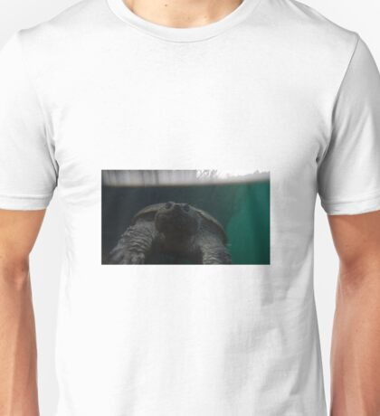 Snapping Turtle at the surface Unisex T-Shirt