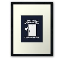 Keeping Yourself In The Fridge Framed Print