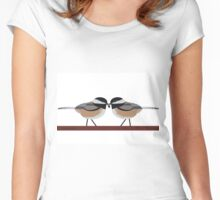 Black Capped Chickadees Women's Fitted Scoop T-Shirt