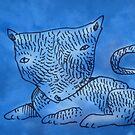 blue cat by Matt Mawson