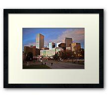 Denver Afternoon Framed Print